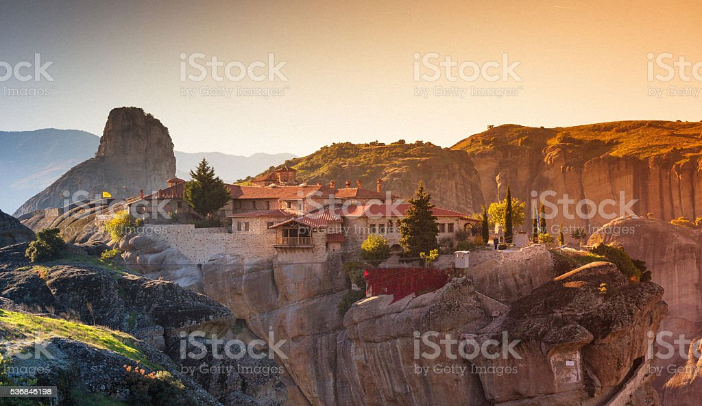 Greece Kalambaka monasteries stock photo