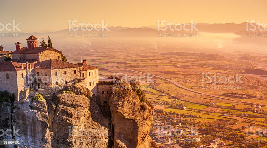Greece Kalambaka monastery stock photo