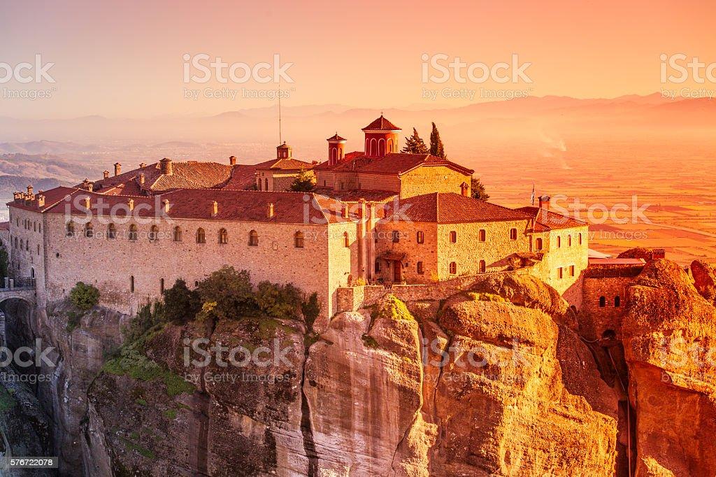 Greece Kalambaka monastery stock photo