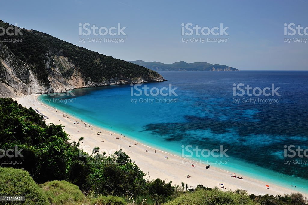 Greece, Kefalonia island, Myrtos beach royalty-free stock photo