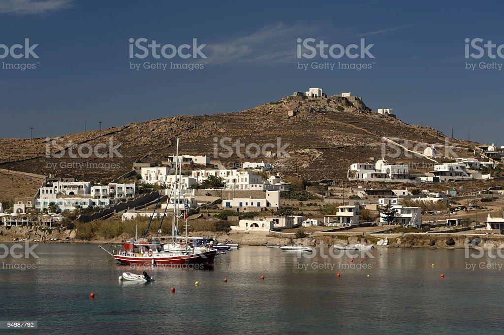 Greece, Myconos Ornos bay stock photo