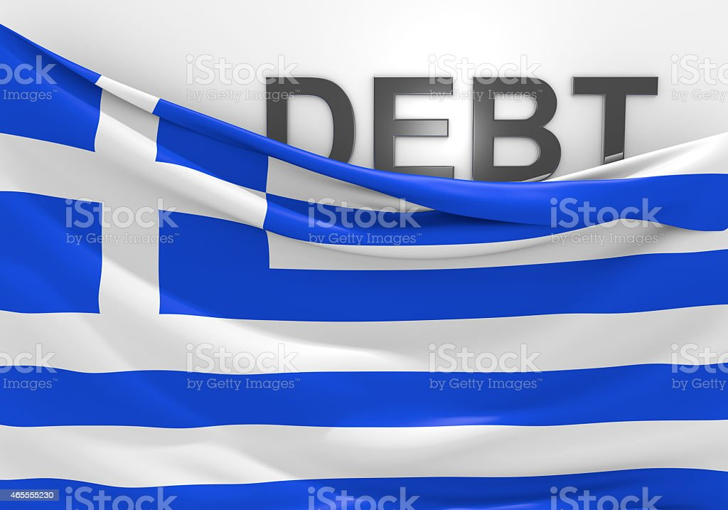Greece national debt and budget deficit financial crisis stock photo