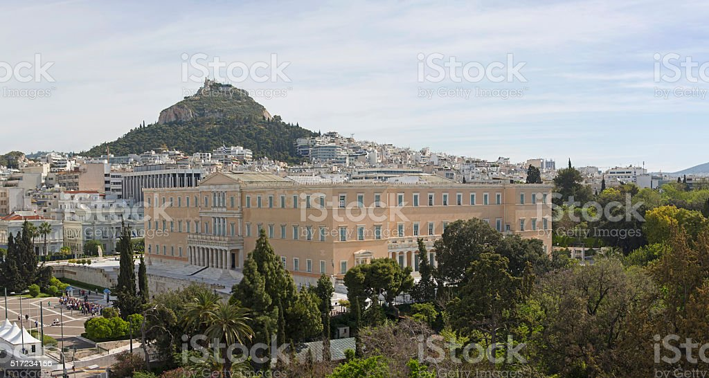 Greece Parliament stock photo