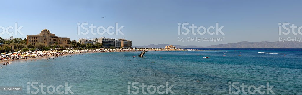 Greece, Rhodes Elli beach stock photo