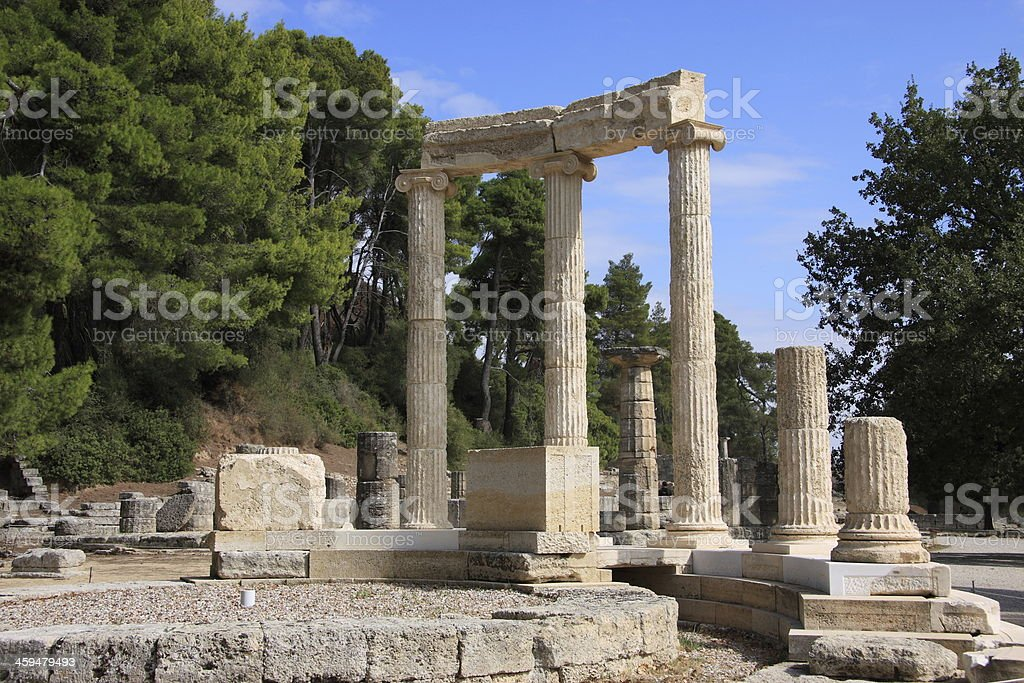 Greece, Ruins of Olympia. UNESCO World Heritage site. stock photo