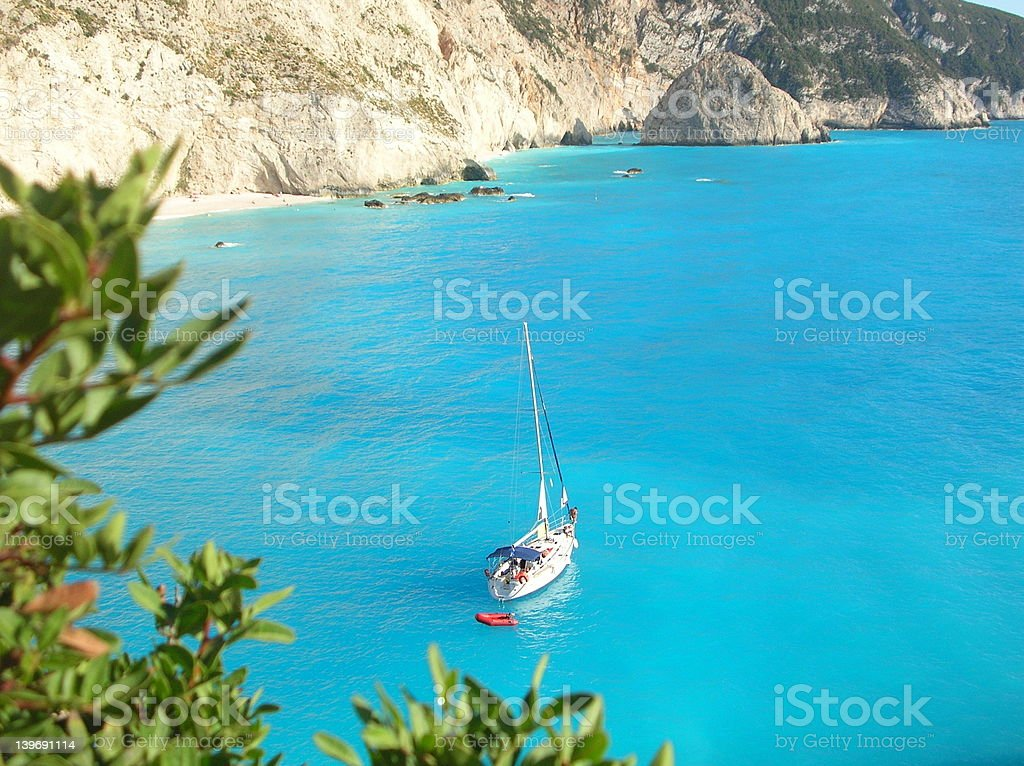 Greece - sailing in the ionian sea stock photo