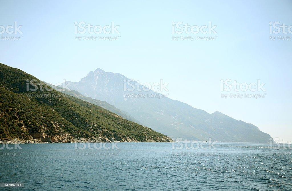Greece sea landscape royalty-free stock photo