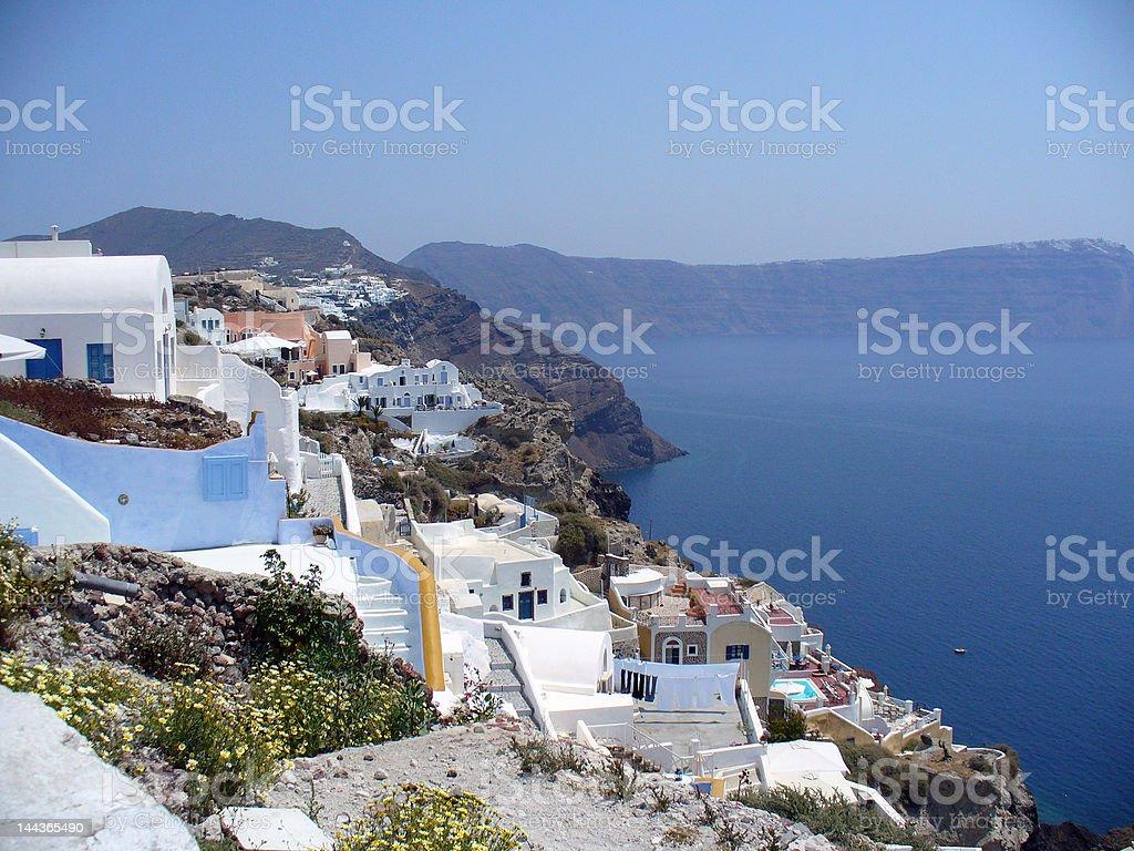 Greece Villa and Blue Sky royalty-free stock photo