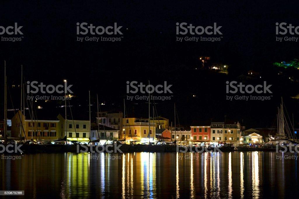Greece, villaggio di pescatori stock photo