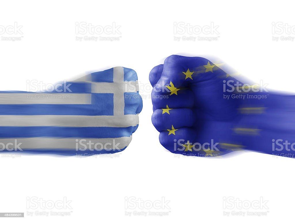greece x eu stock photo