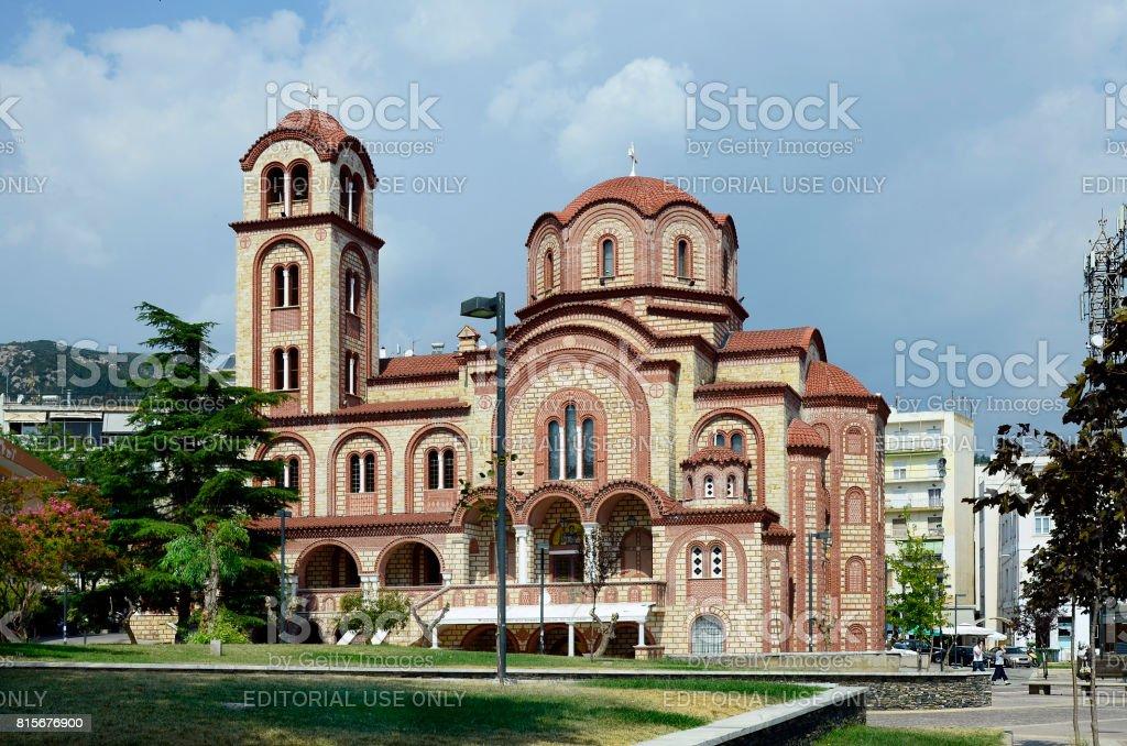 Greece, Xanthi, church stock photo
