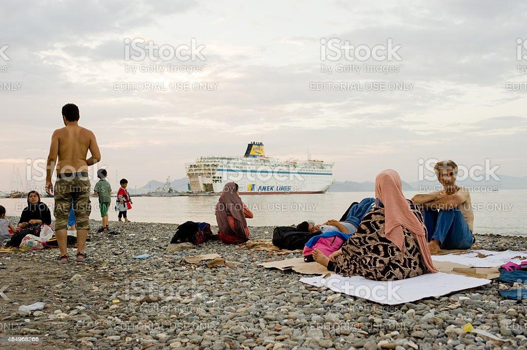 Greece-Europe-Migrants stock photo