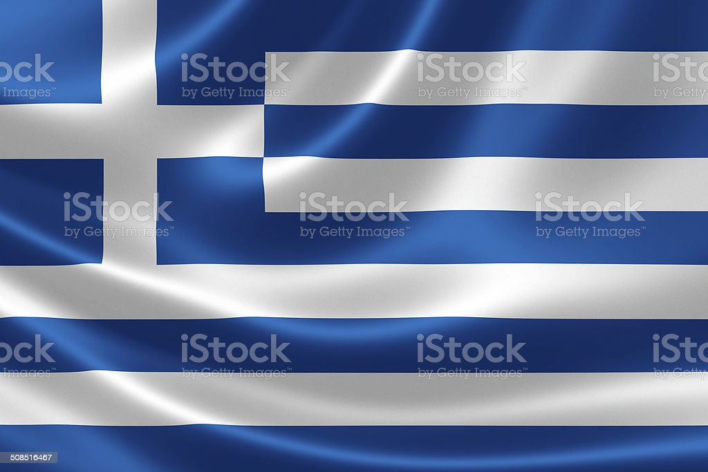 Greece's Flag stock photo