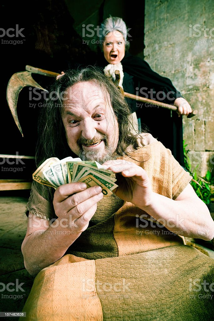 Greed and Revenge royalty-free stock photo