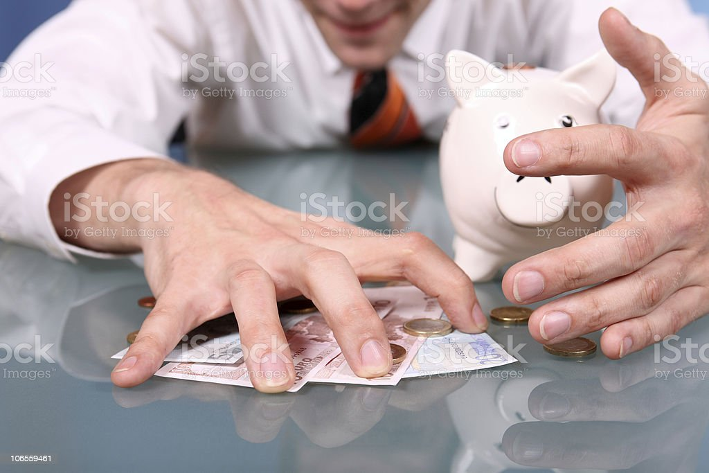 Greed for Money and Savings royalty-free stock photo