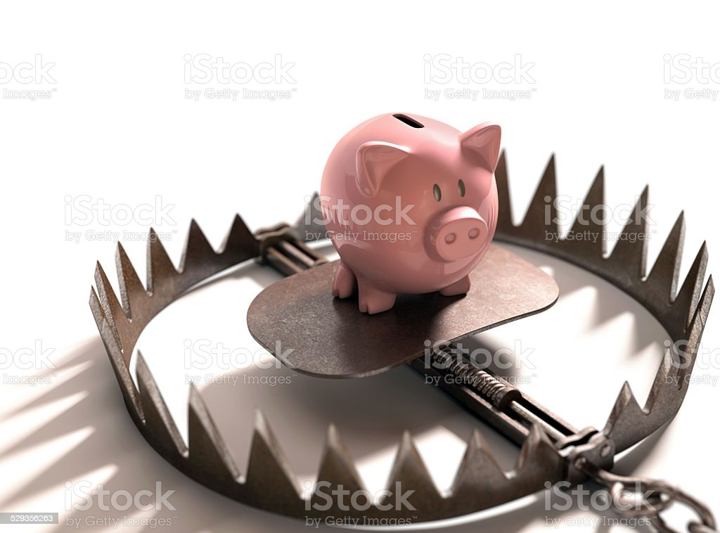 Greed Traps stock photo