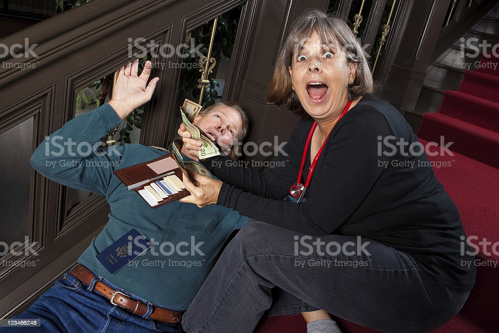 Greedy Doctor stock photo