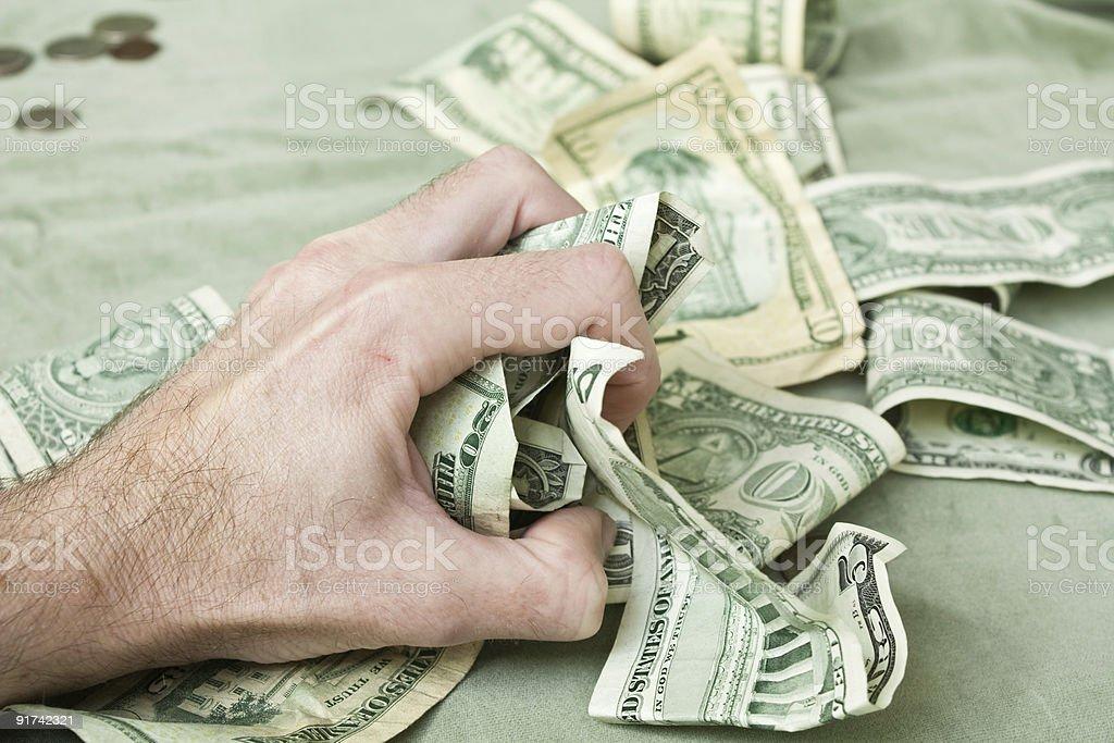 Greedy Grabbing Hand royalty-free stock photo