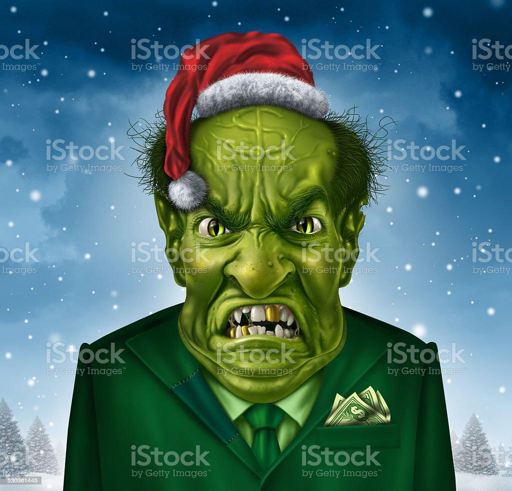 Greedy Holiday Boss stock photo
