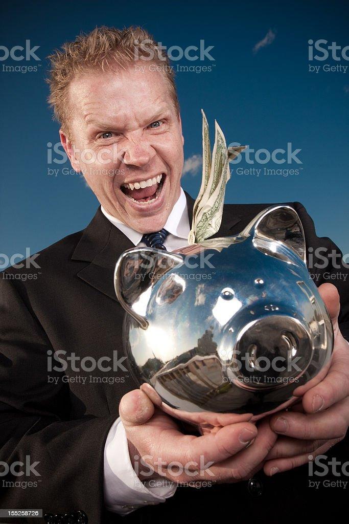 greedy man royalty-free stock photo