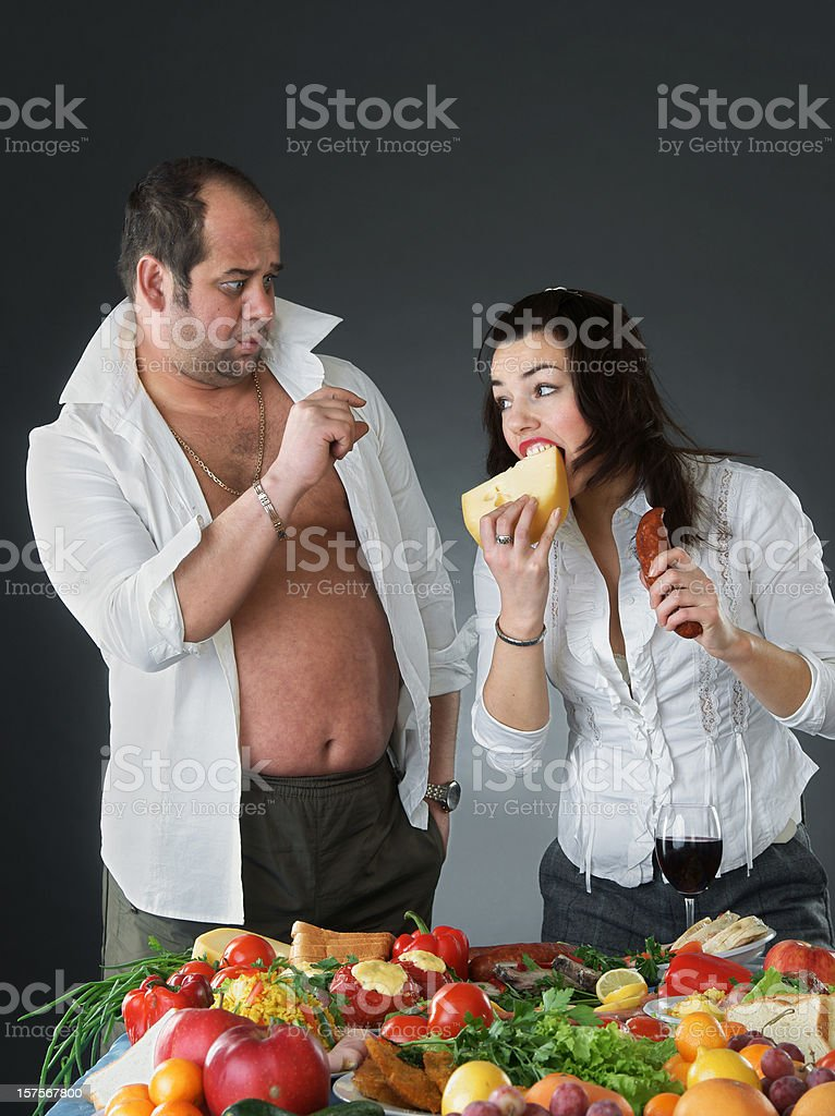 Gourmands royalty-free stock photo