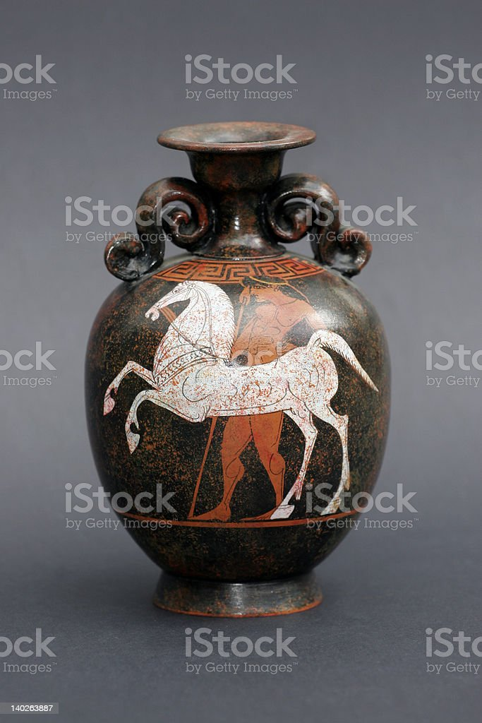greek Amphora stock photo