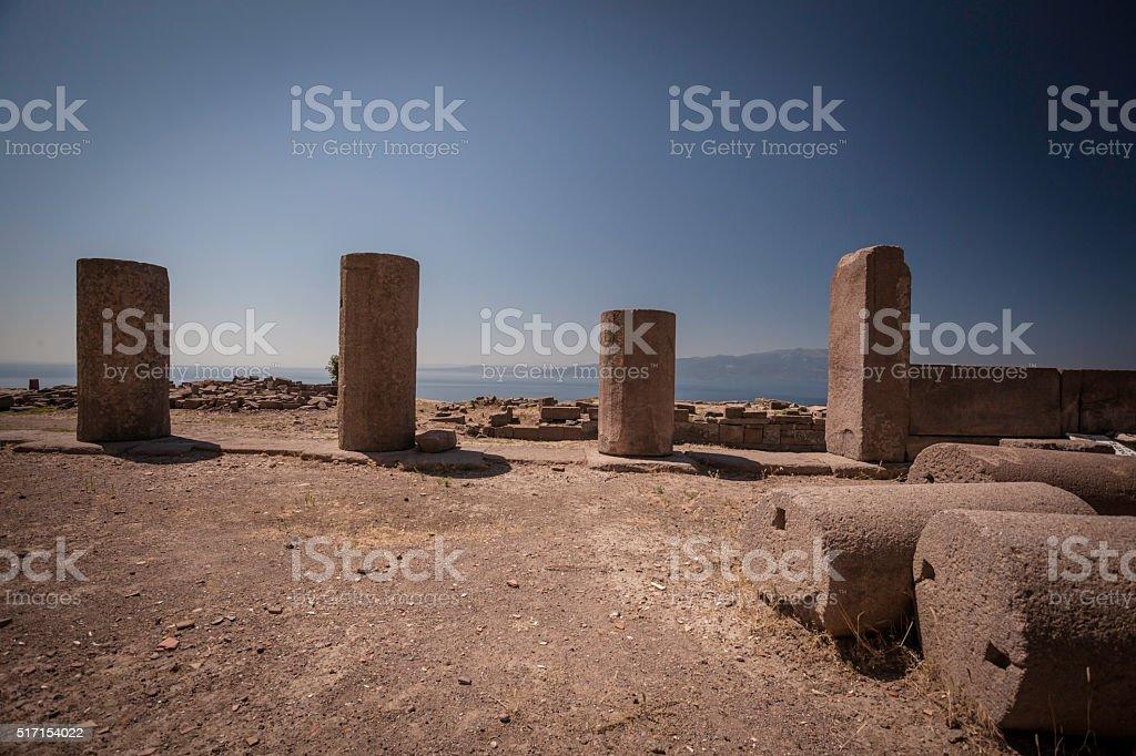 Greek Ancient Temple stock photo
