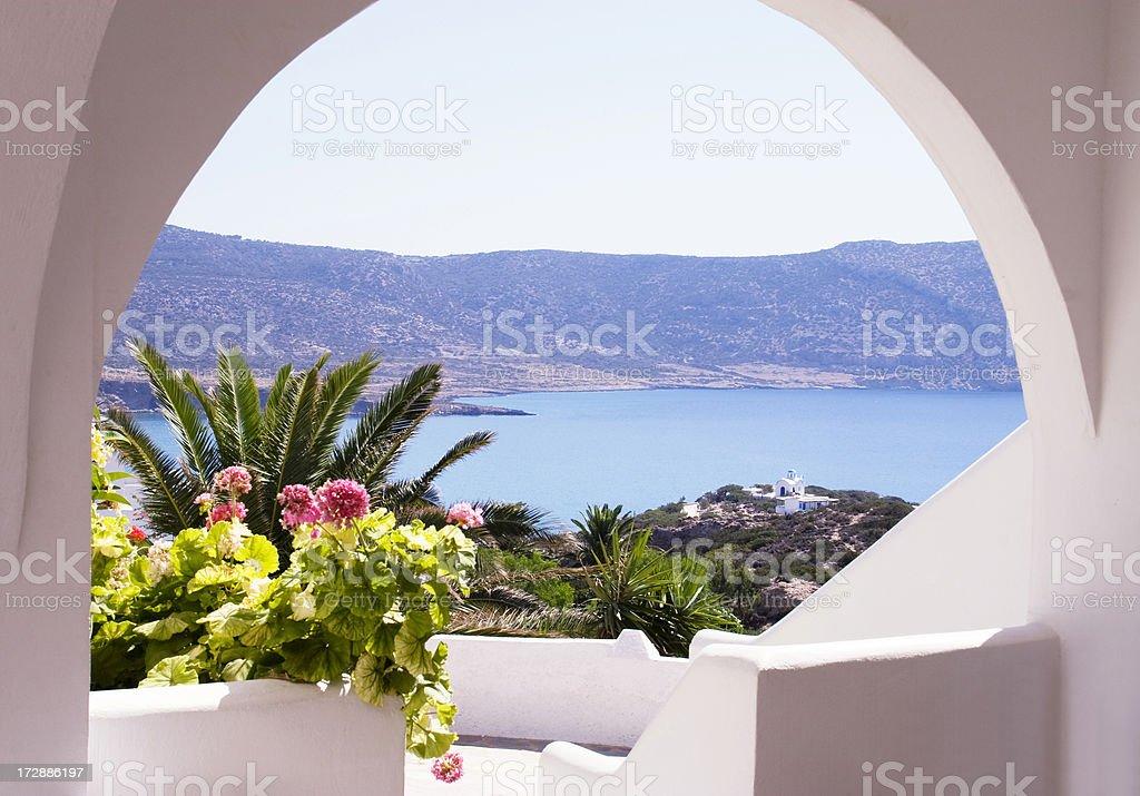 Greek arcade royalty-free stock photo
