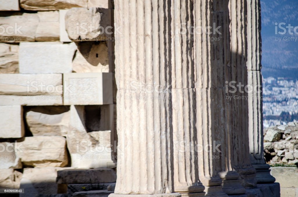 Greek architecture stock photo
