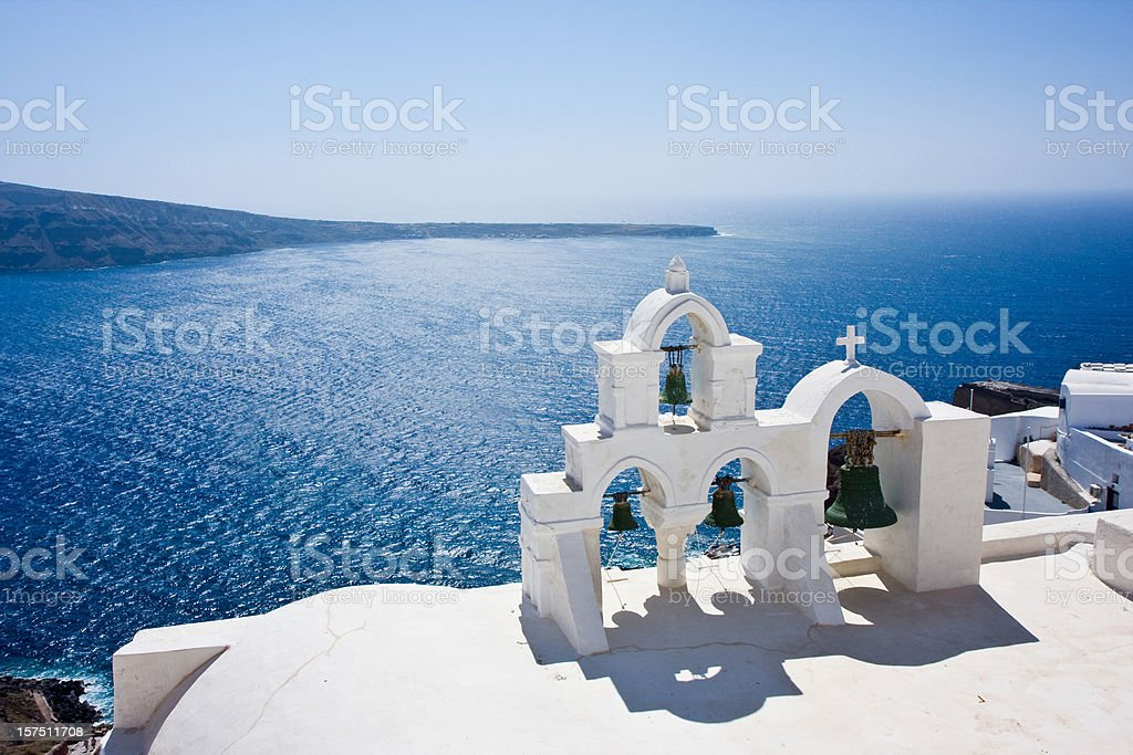 greek  bell towers royalty-free stock photo