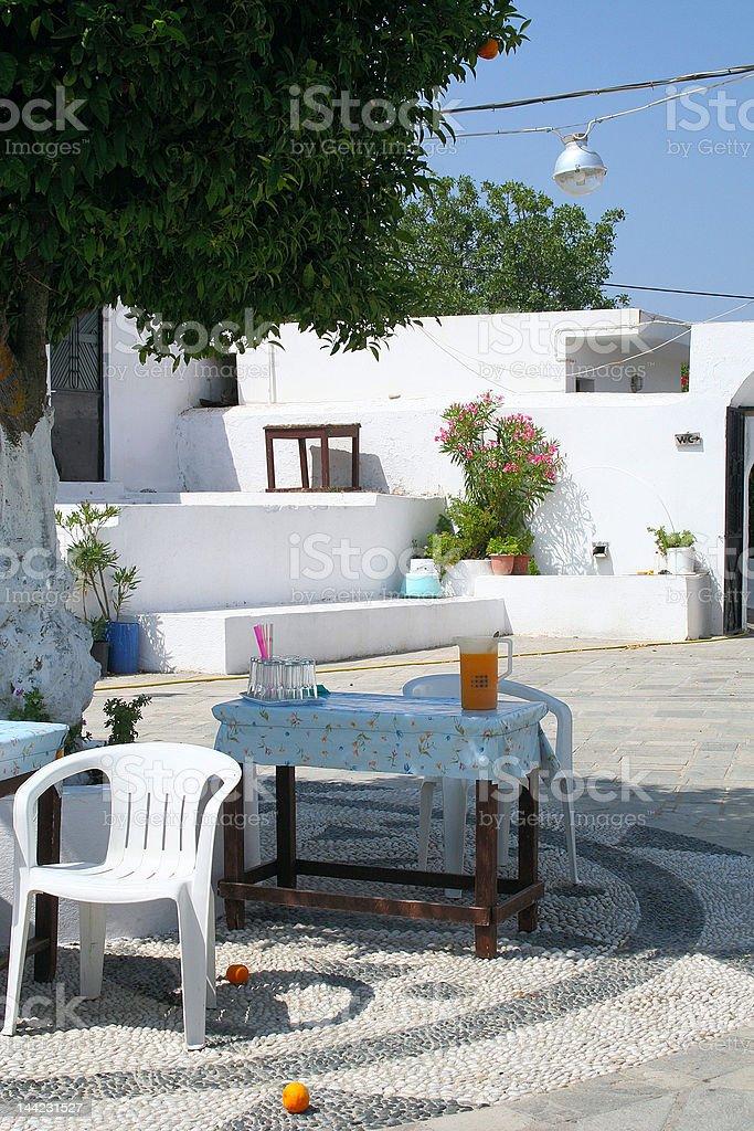 Greek cafe royalty-free stock photo