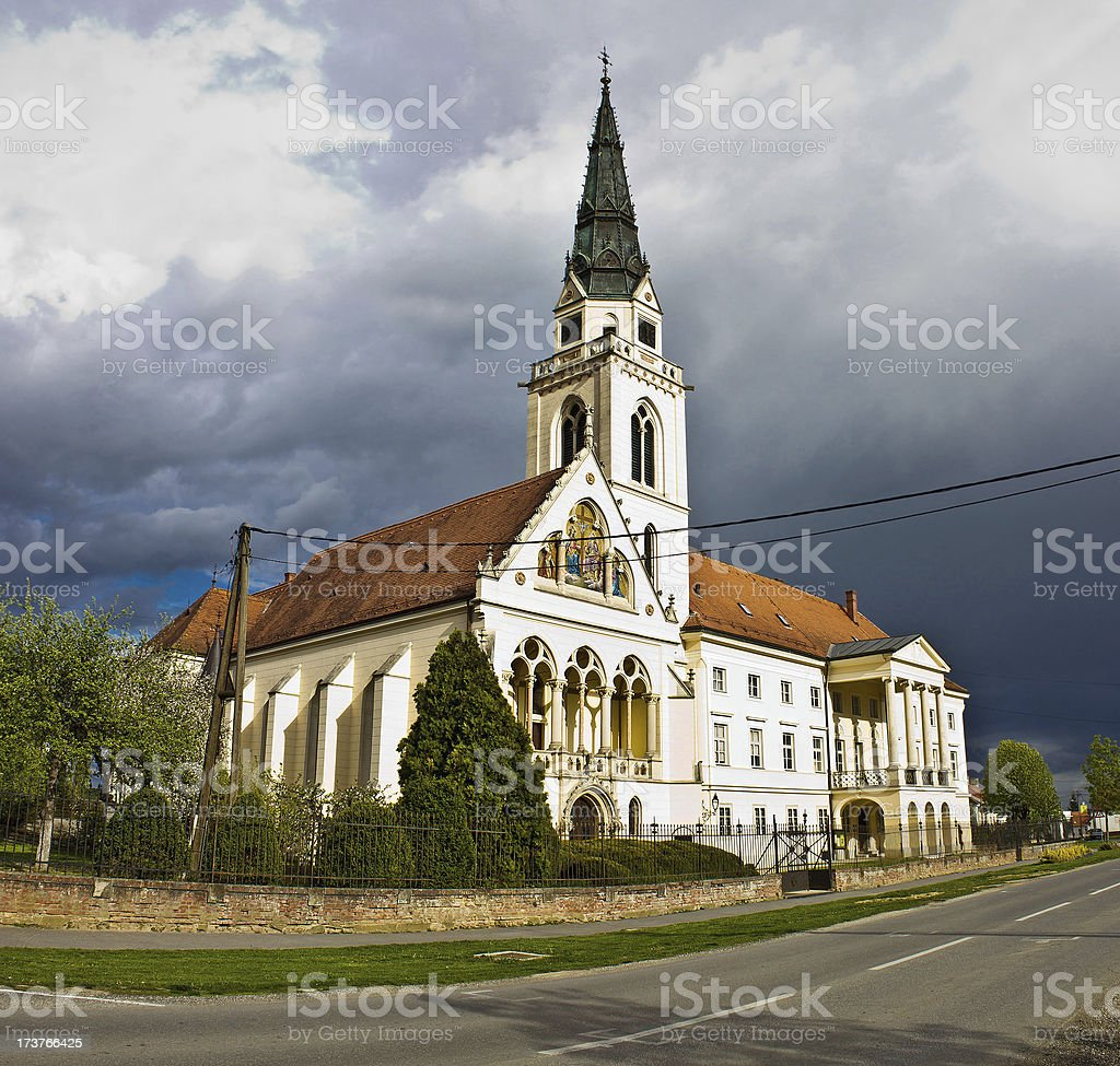 Greek catholic cathedral in Krizevci stock photo