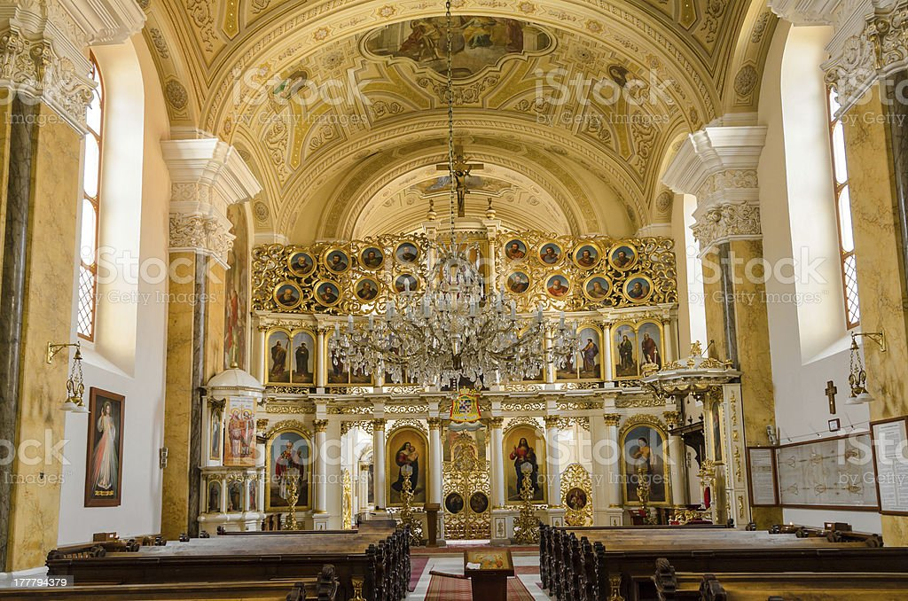 Greek Catholic church of St. John the Baptist, Presov, Slovakia stock photo