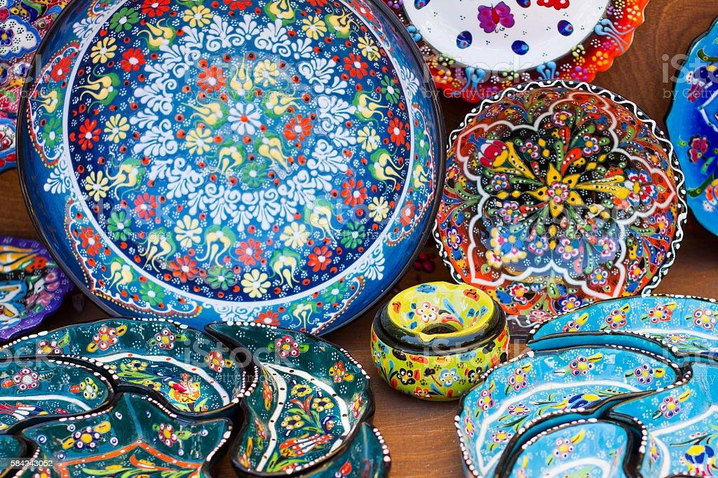 Greek ceramics stock photo
