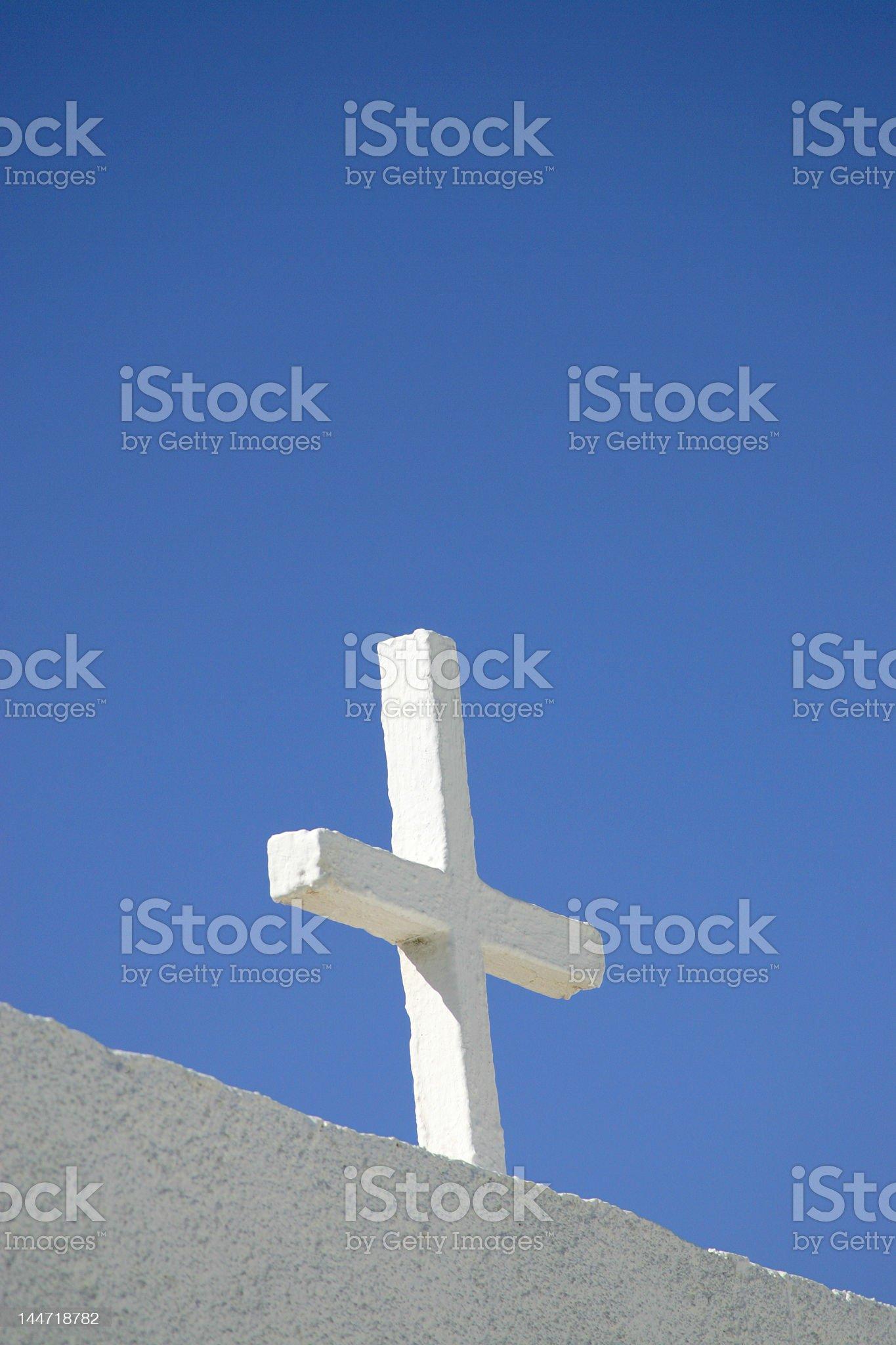 Greek church cross royalty-free stock photo