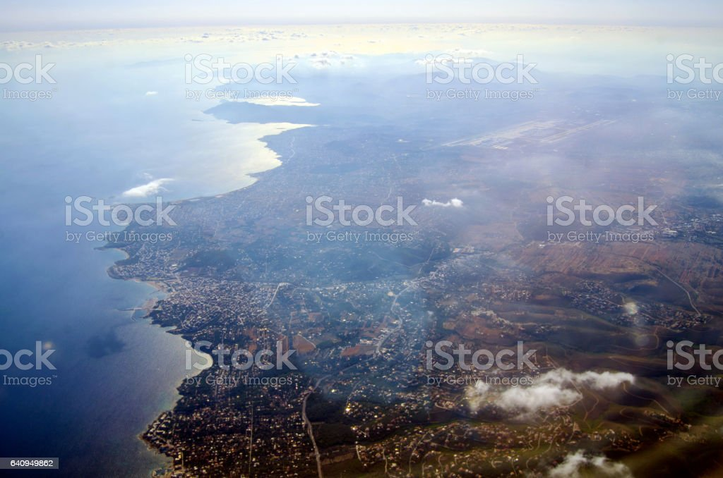 Greek coast stock photo