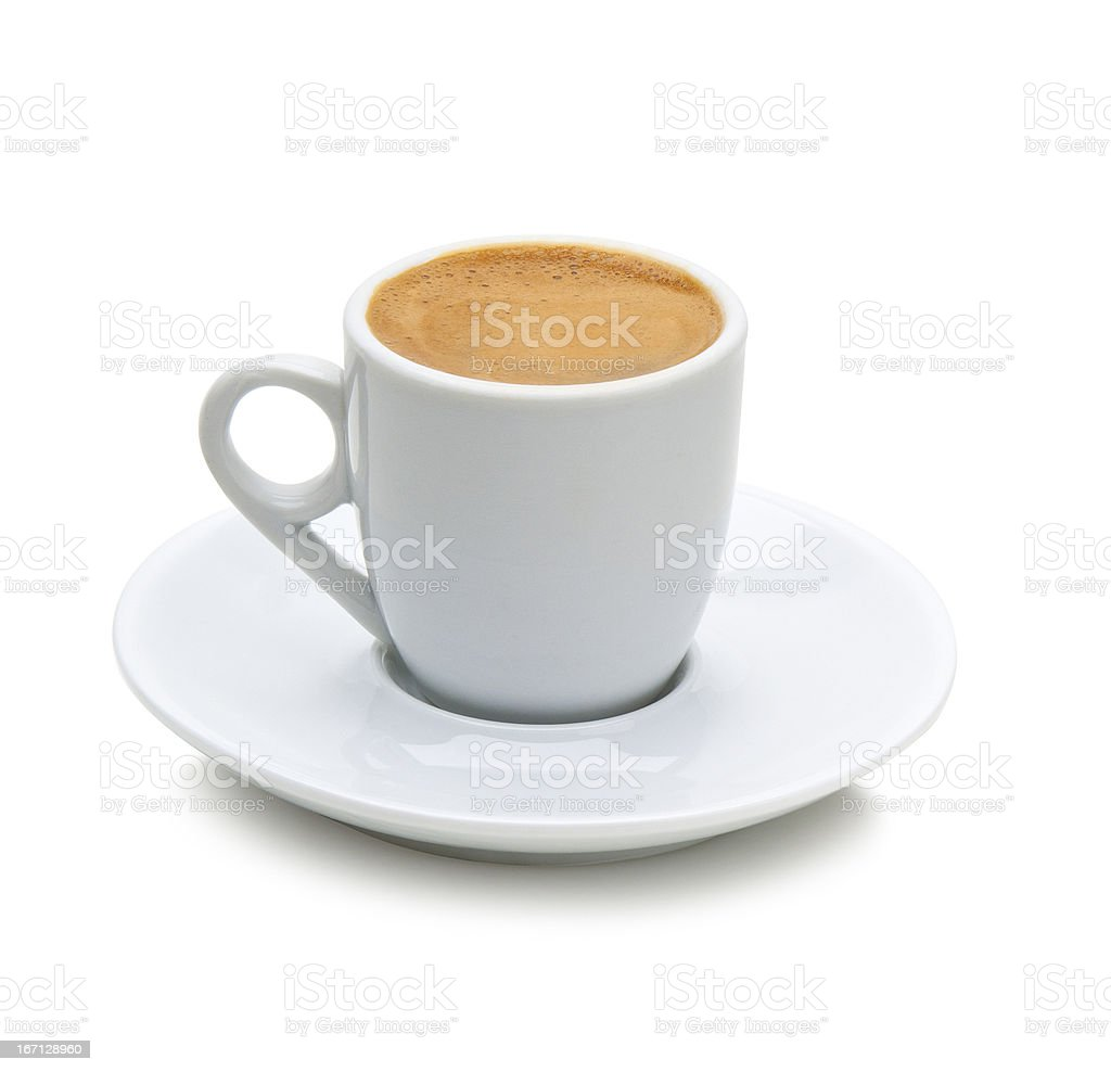 greek coffee in a white cup(path) stock photo