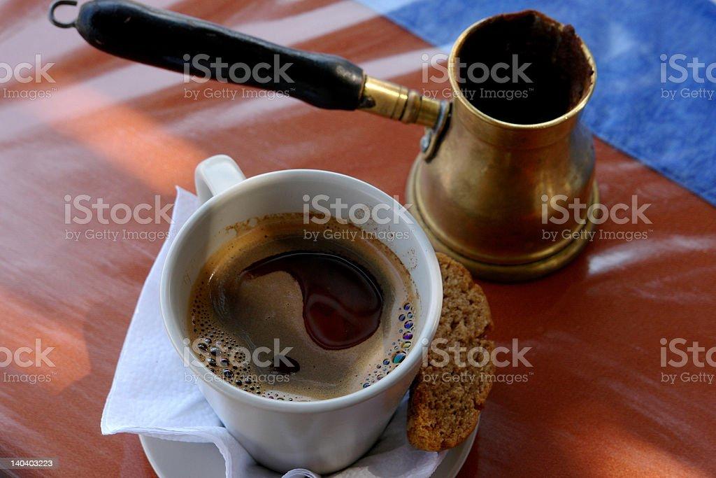 Greek coffee royalty-free stock photo