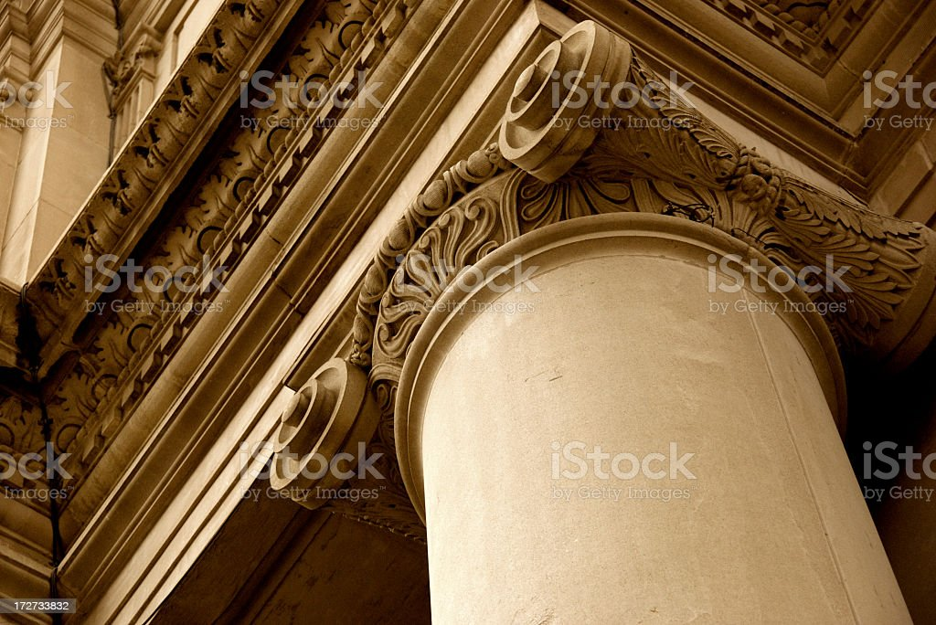 Greek column architectural detail royalty-free stock photo