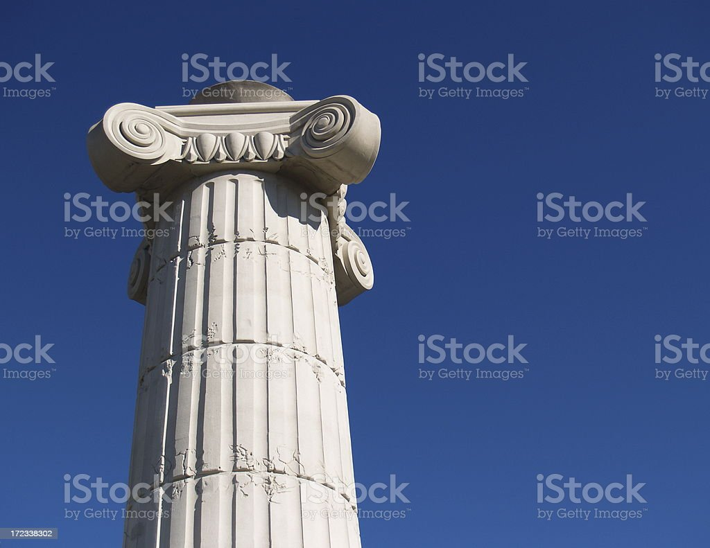 Greek Column Pedestal Roman Tower royalty-free stock photo