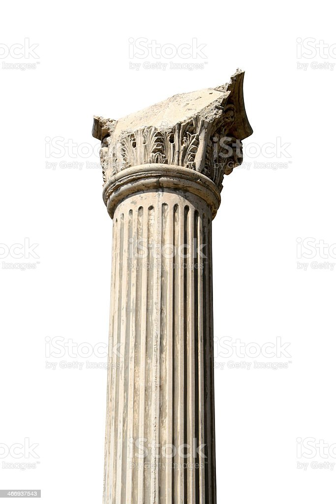 Greek column stock photo