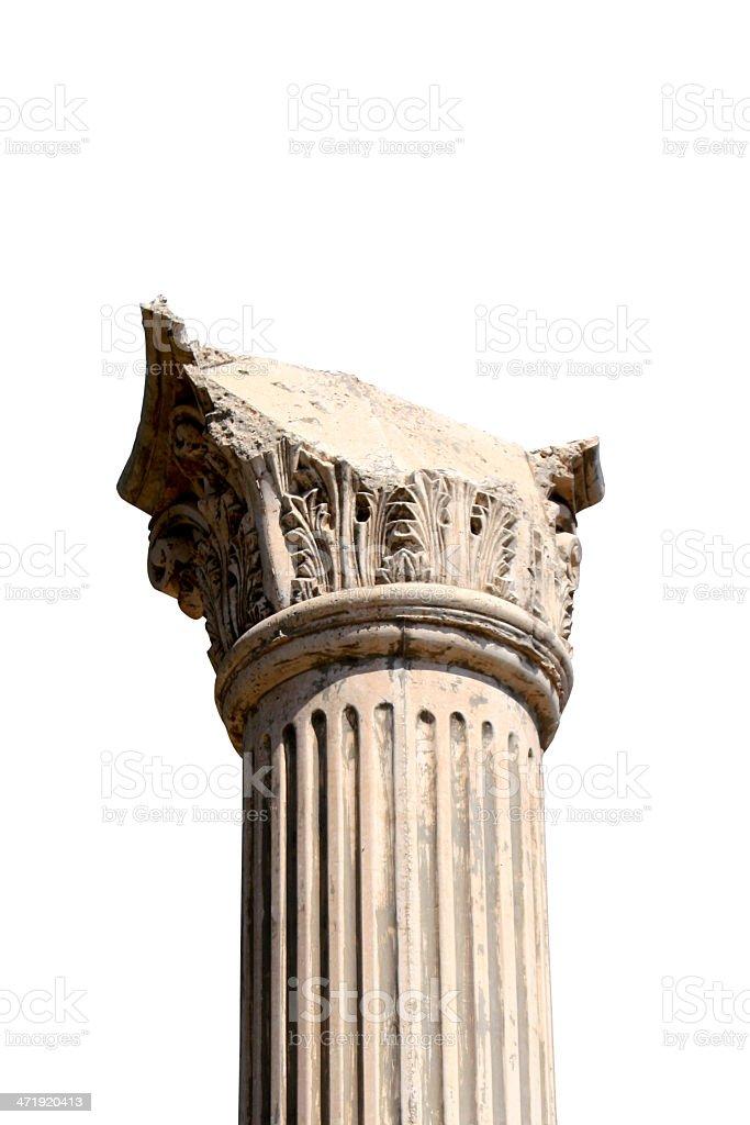 Greek column royalty-free stock photo