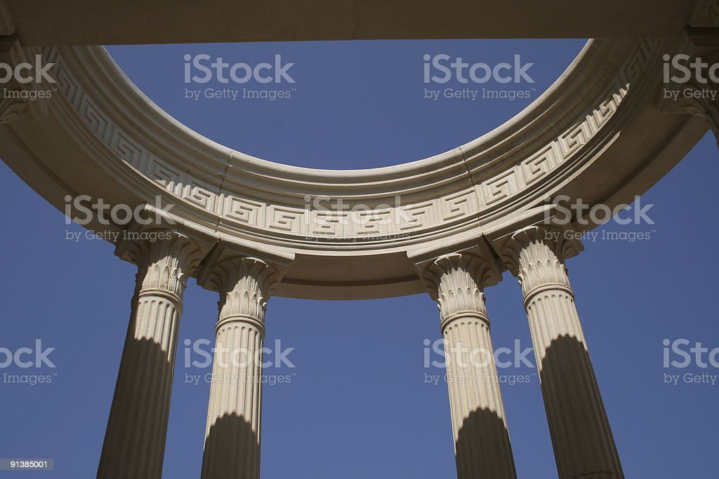 Greek columns monument royalty-free stock photo