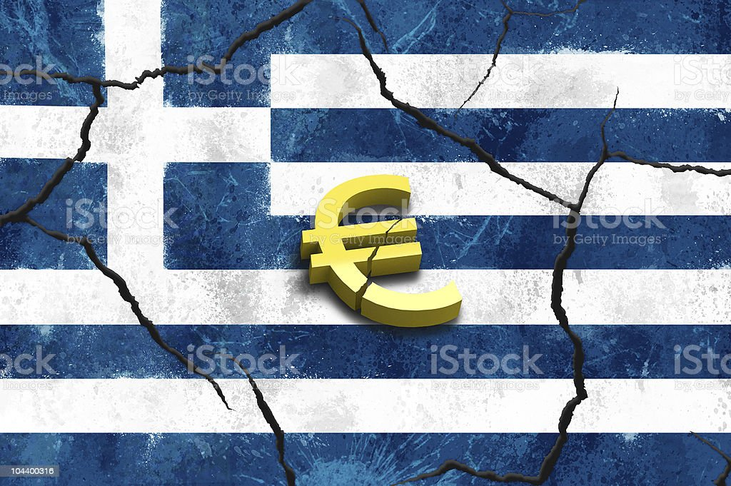 Greek crash stock photo