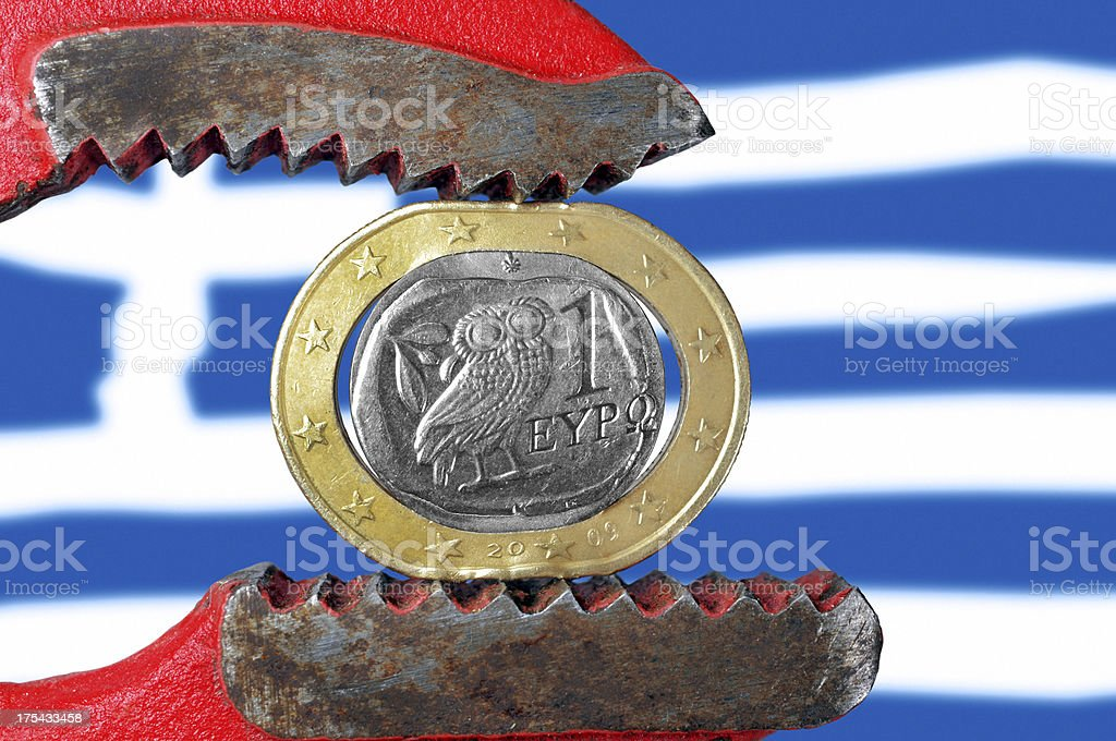 Greek crisis royalty-free stock photo