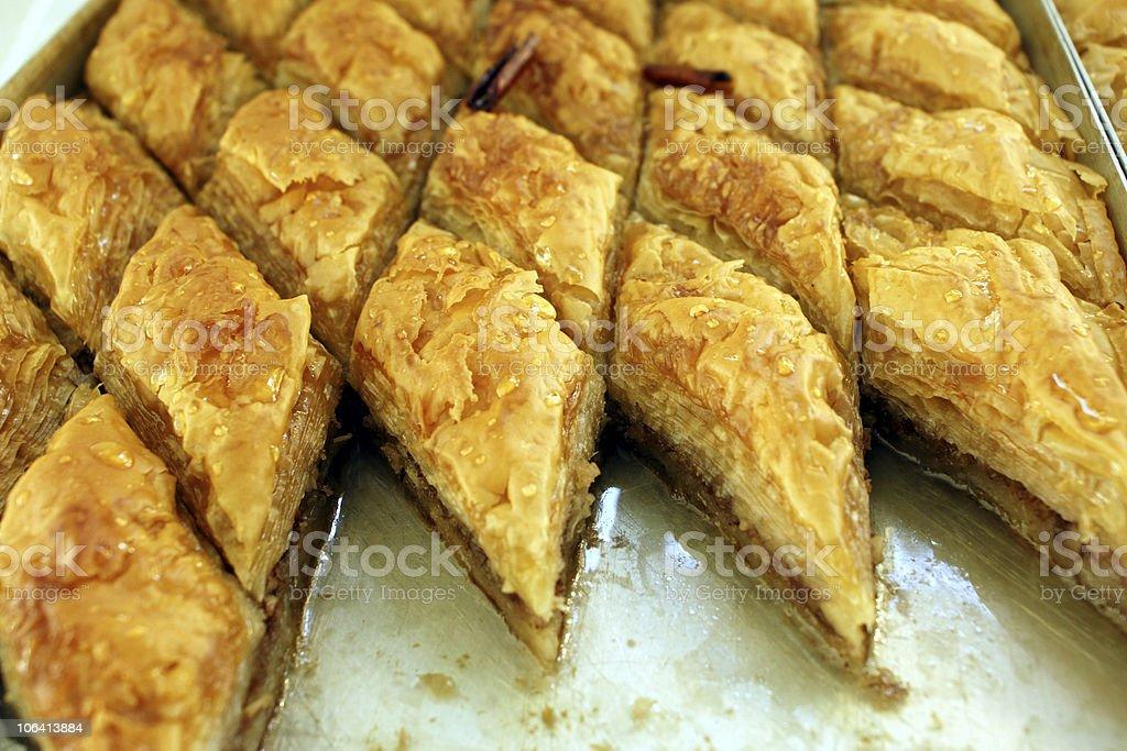 Greek delicatessen - baklava sweet royalty-free stock photo
