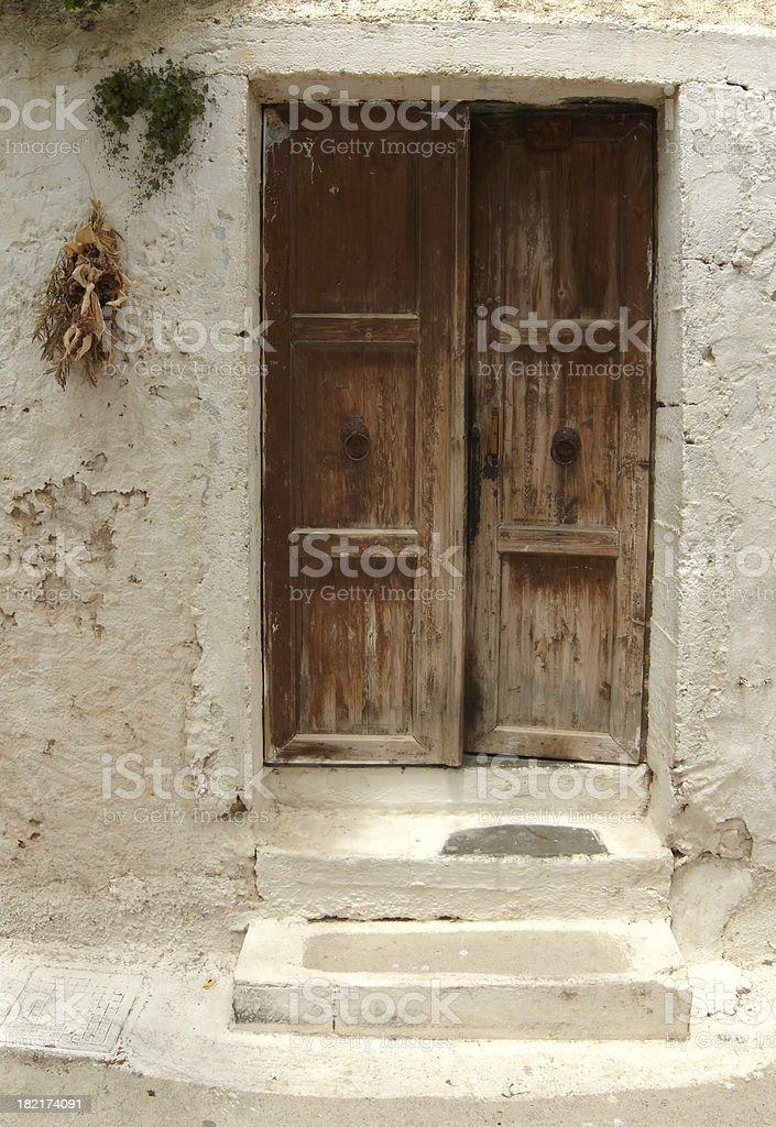greek door stock photo
