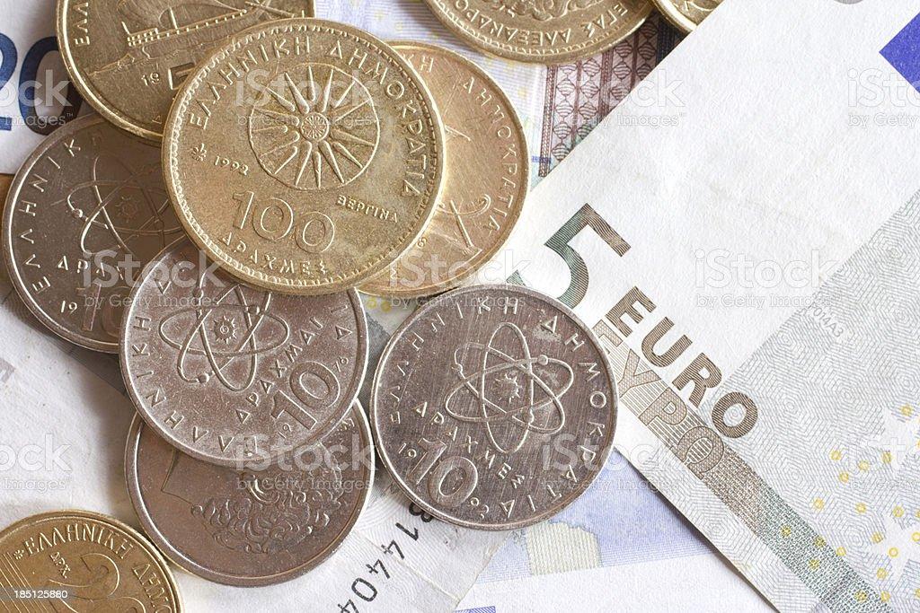 Greek drachma stock photo