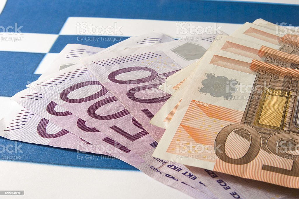 Greek euro crisis stock photo