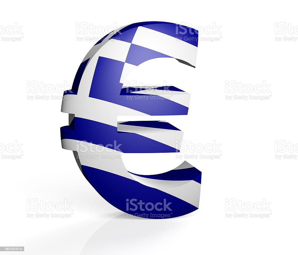 Greek Euro royalty-free stock photo